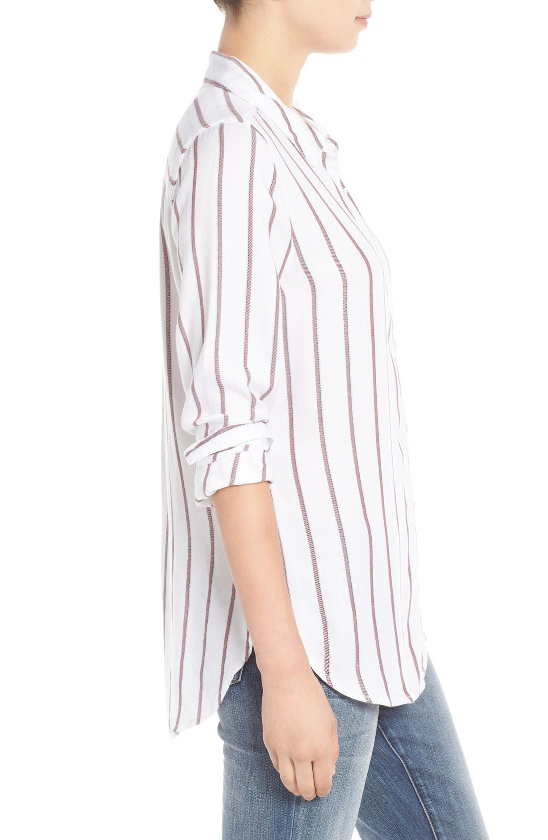 Alternate Image 3  - Treasure&Bond Stripe Button Front Tunic Shirt