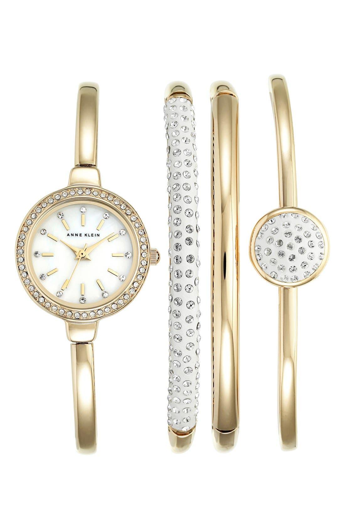 Main Image - Anne Klein Boxed Bracelet & Bangle Watch Set, 24mm