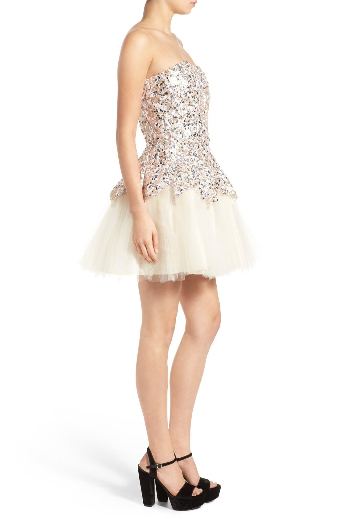Alternate Image 3  - Steppin Out Sequin Tulip Dress