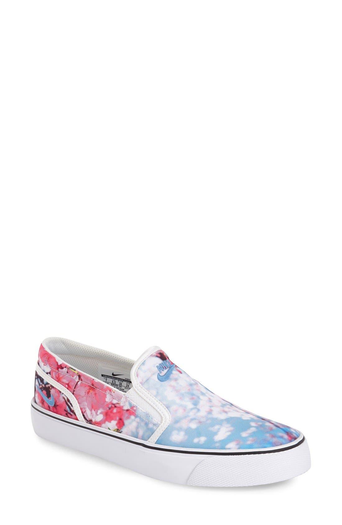 Alternate Image 1 Selected - Nike 'Toki' Print Slip-On Sneaker (Women)