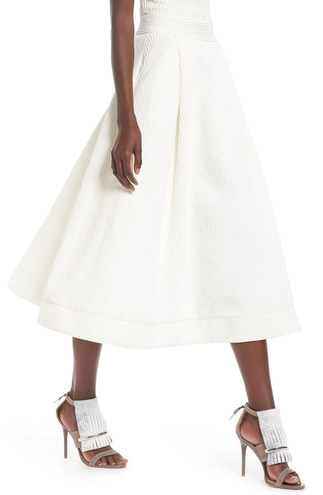 Alternate Image 3  - C/MEO Collective 'Stay Close' Wavy Pleat Midi Skirt