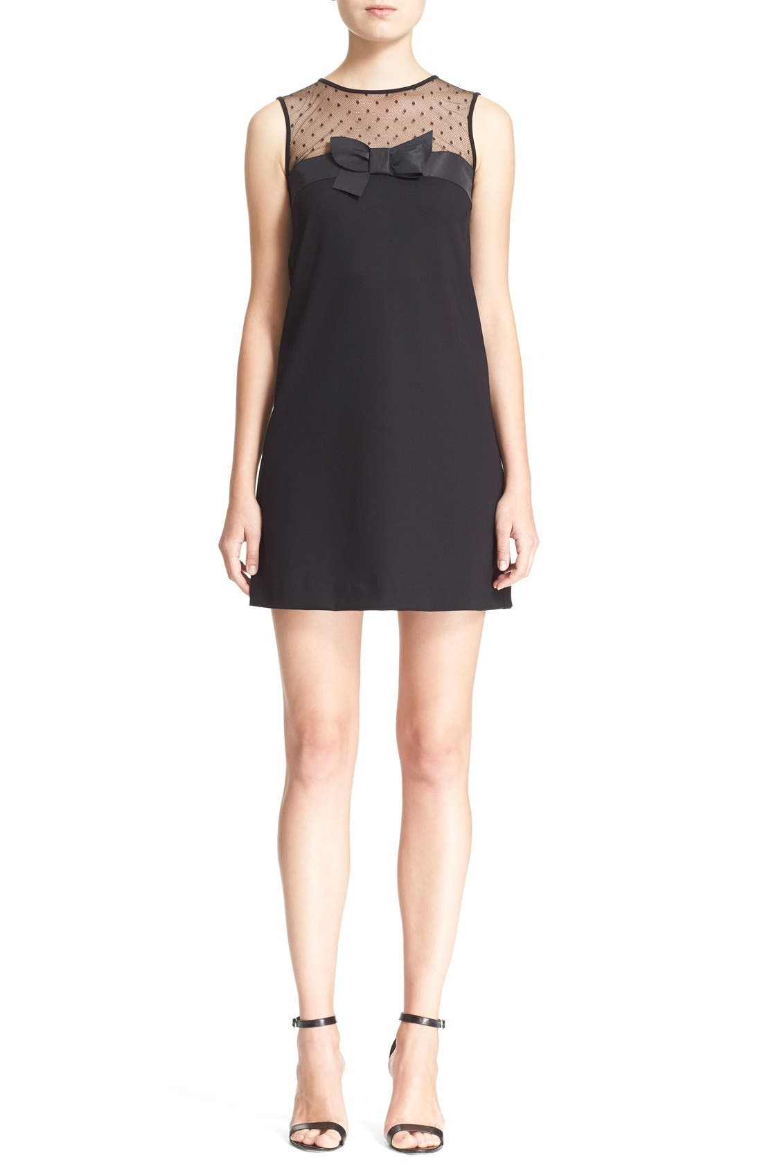 Alternate Image 1 Selected - RED Valentino Point d'Esprit Yoke Bow Dress