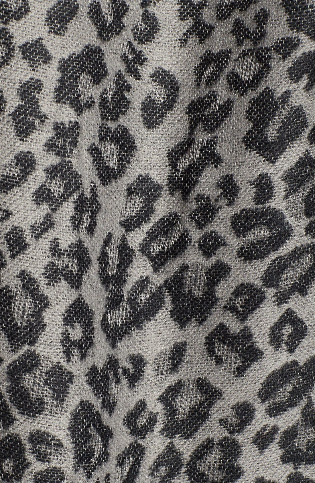 Alternate Image 5  - Capelli of New York Leopard Print Knit Cape