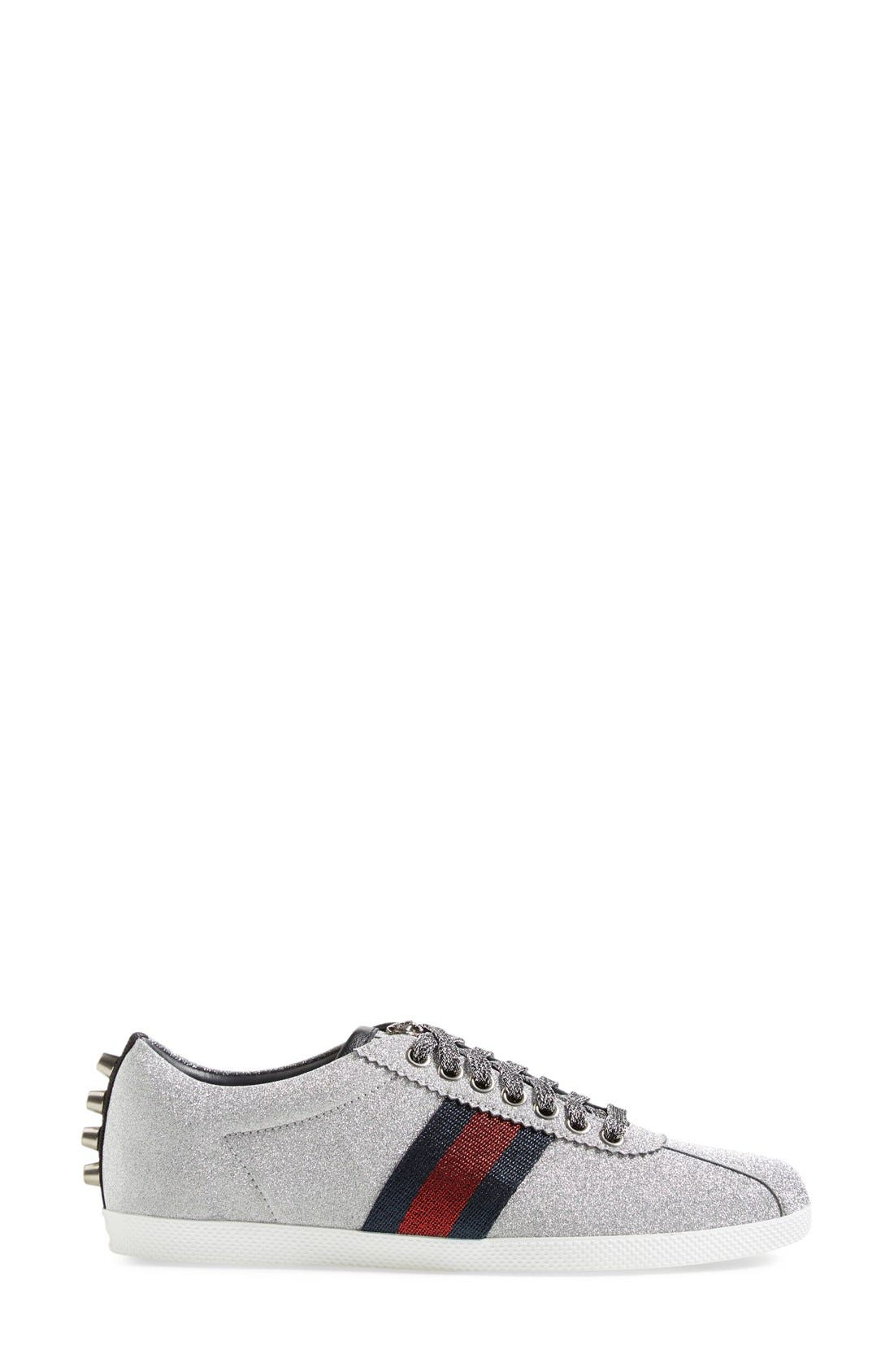 Alternate Image 4  - Gucci Lace-Up Sneaker (Women)