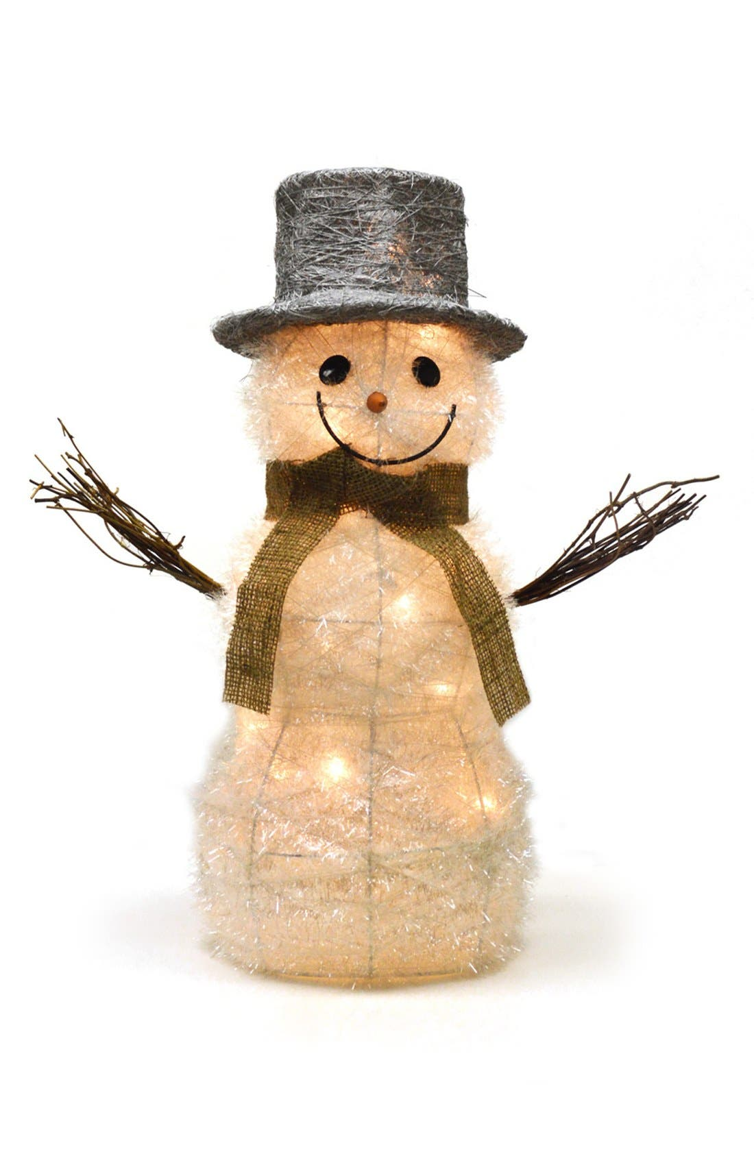 Alternate Image 2  - Shea's Wildflower 'Frosty - Ready For Winter' Lighted Snowman Figurine