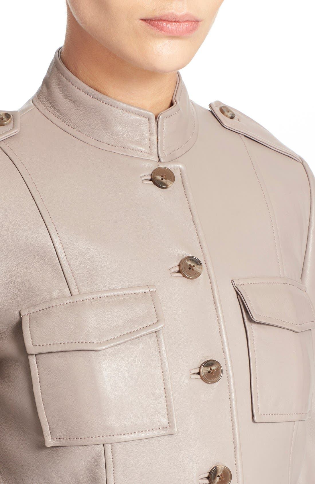 Alternate Image 4  - Tory Burch Leather Military Jacket