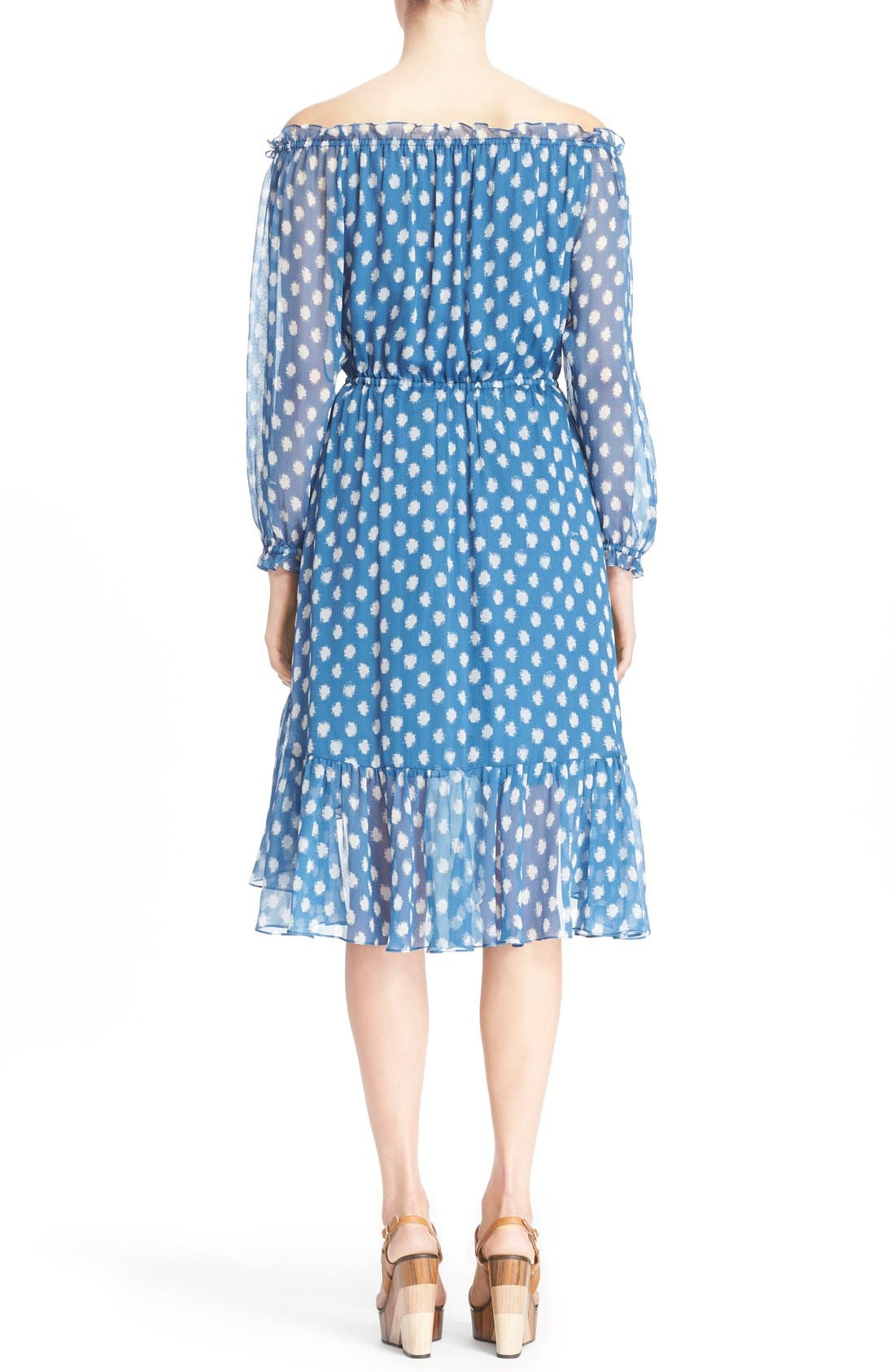 Alternate Image 2  - Diane von Furstenberg 'Camila Two' Off the Shoulder Polka Dot Silk Dress