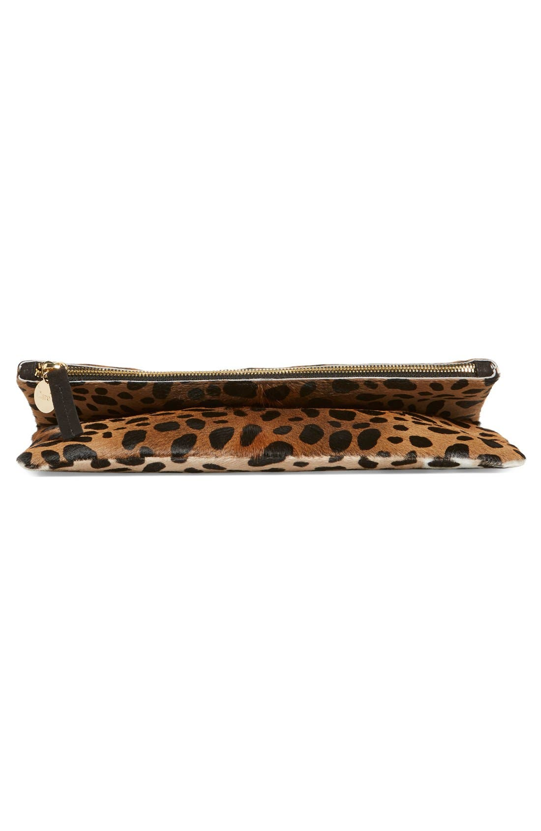 Alternate Image 5  - Clare V. Genuine Calf Hair Leopard Print Foldover Clutch