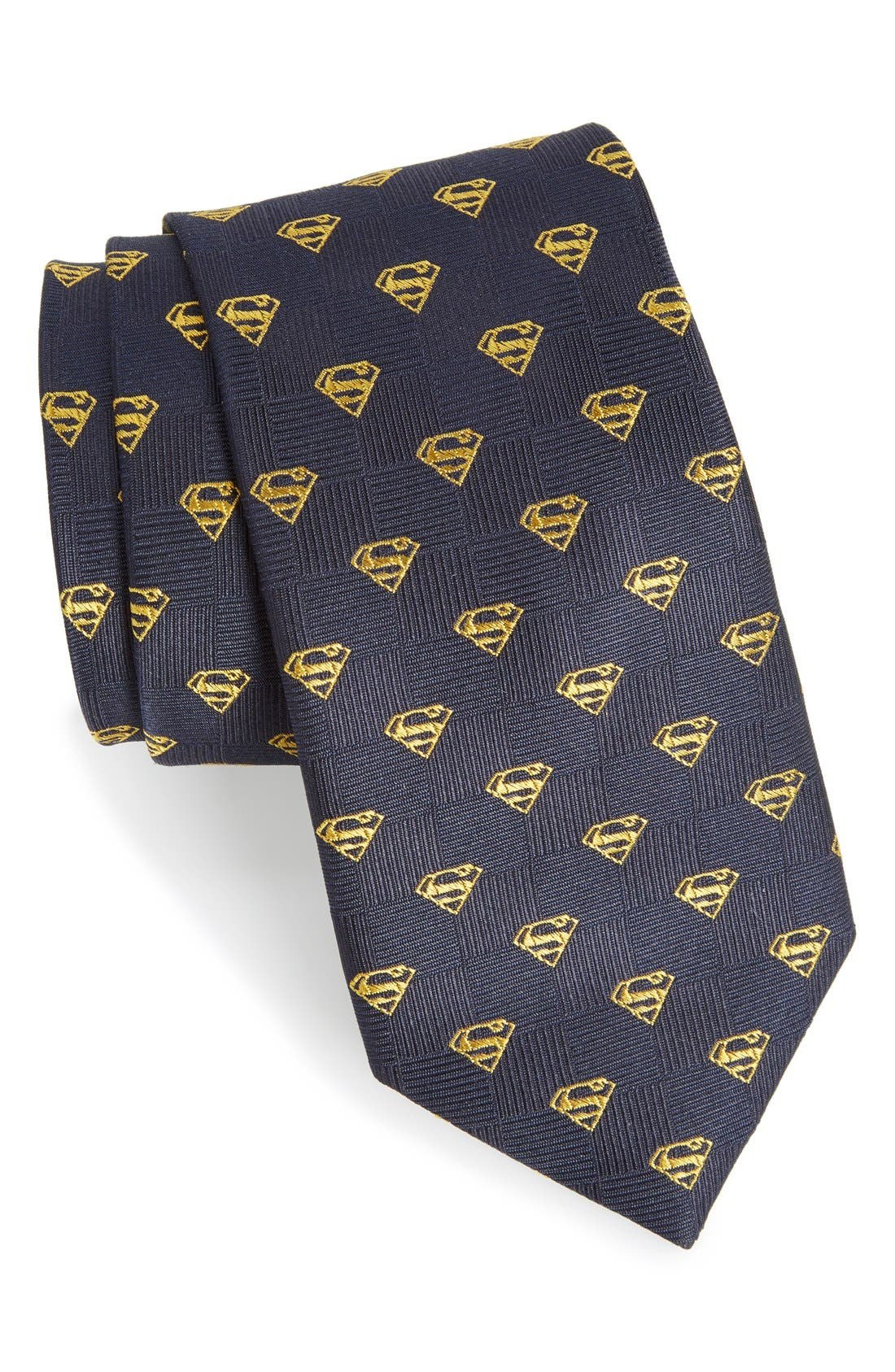 CUFFLINKS, INC. 'Superman Shield' Silk Tie