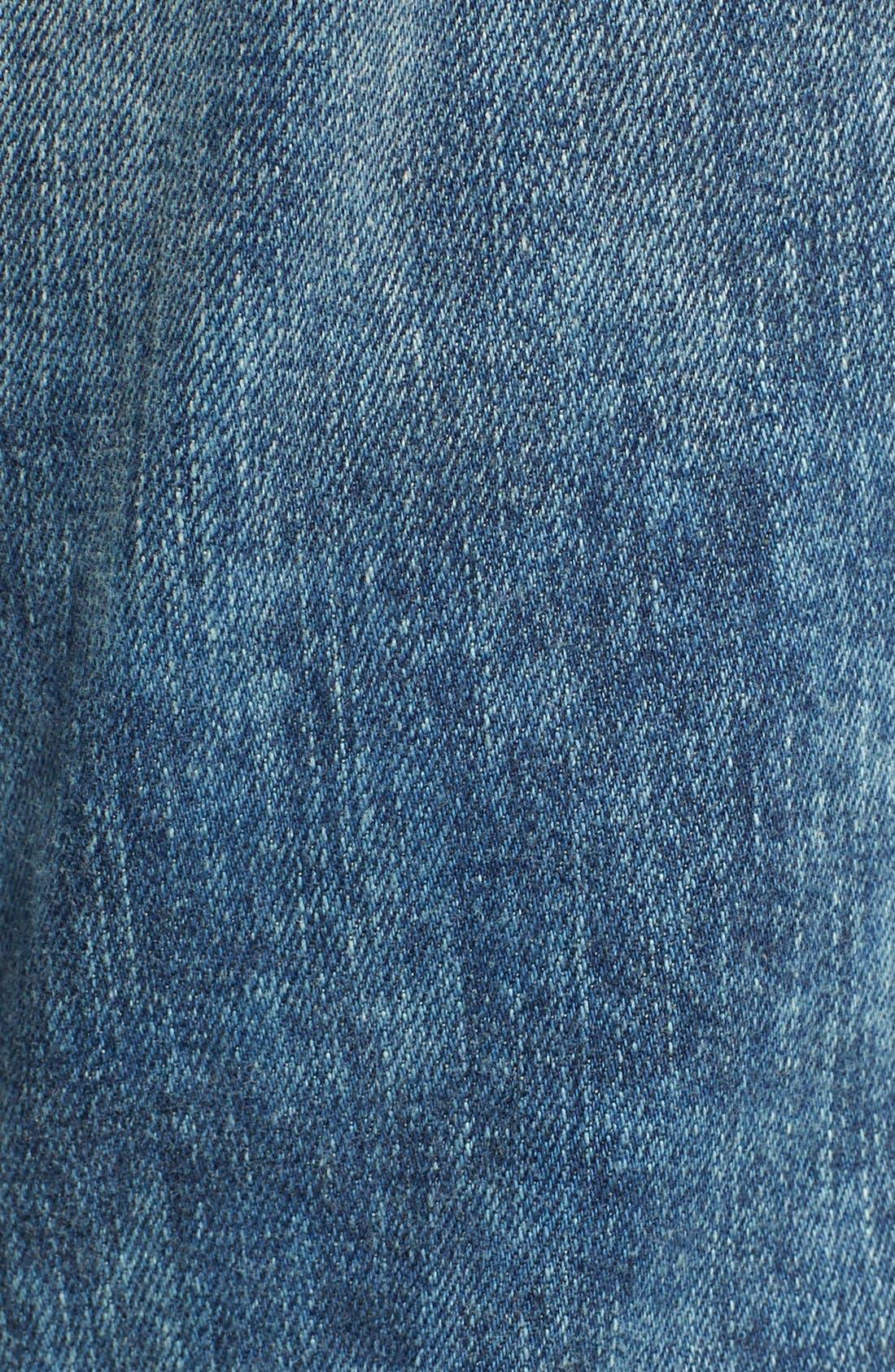 Alternate Image 5  - A Gold E 'Denise' Destroyed Boyfriend Jeans (Lisbon)