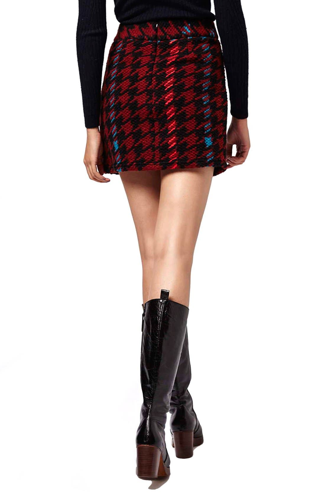 Alternate Image 3  - Topshop Houndstooth High Rise A-Line Skirt
