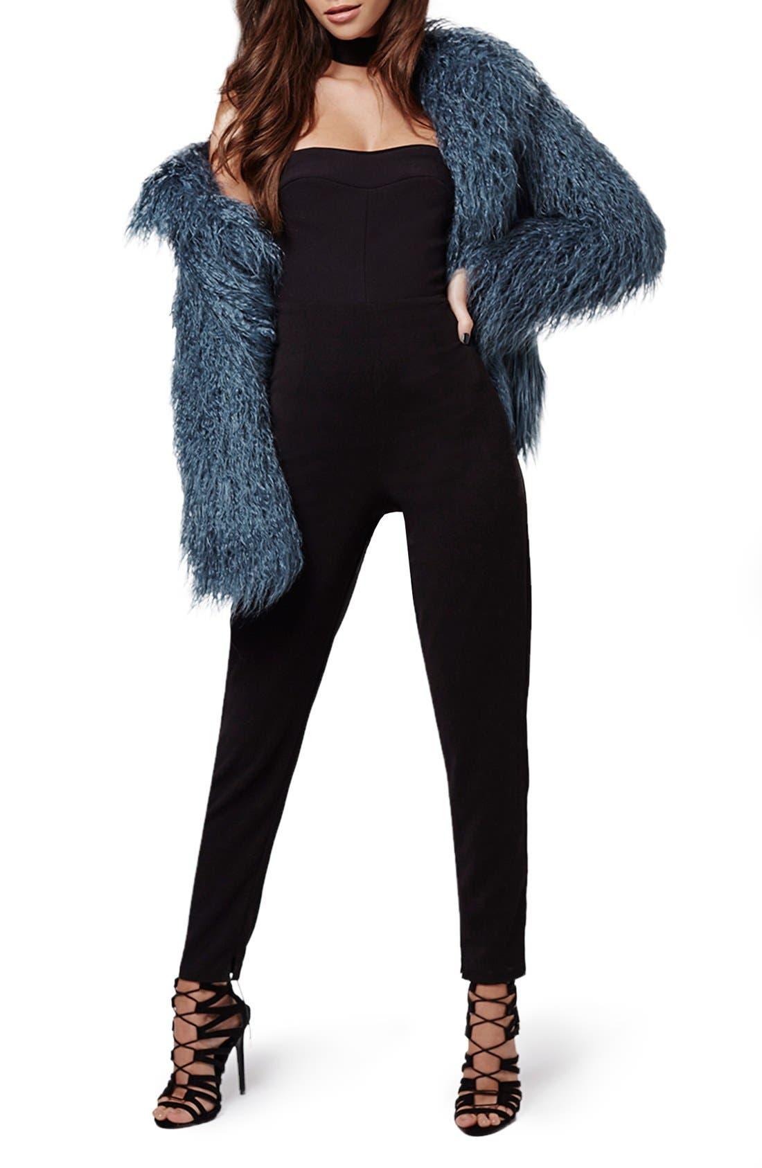 Alternate Image 2  - KENDALL + KYLIE at Topshop Faux Fur Coat
