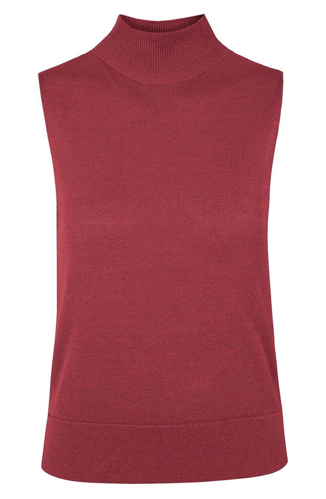 Alternate Image 5  - Topshop Sleeveless Funnel Neck Sweater