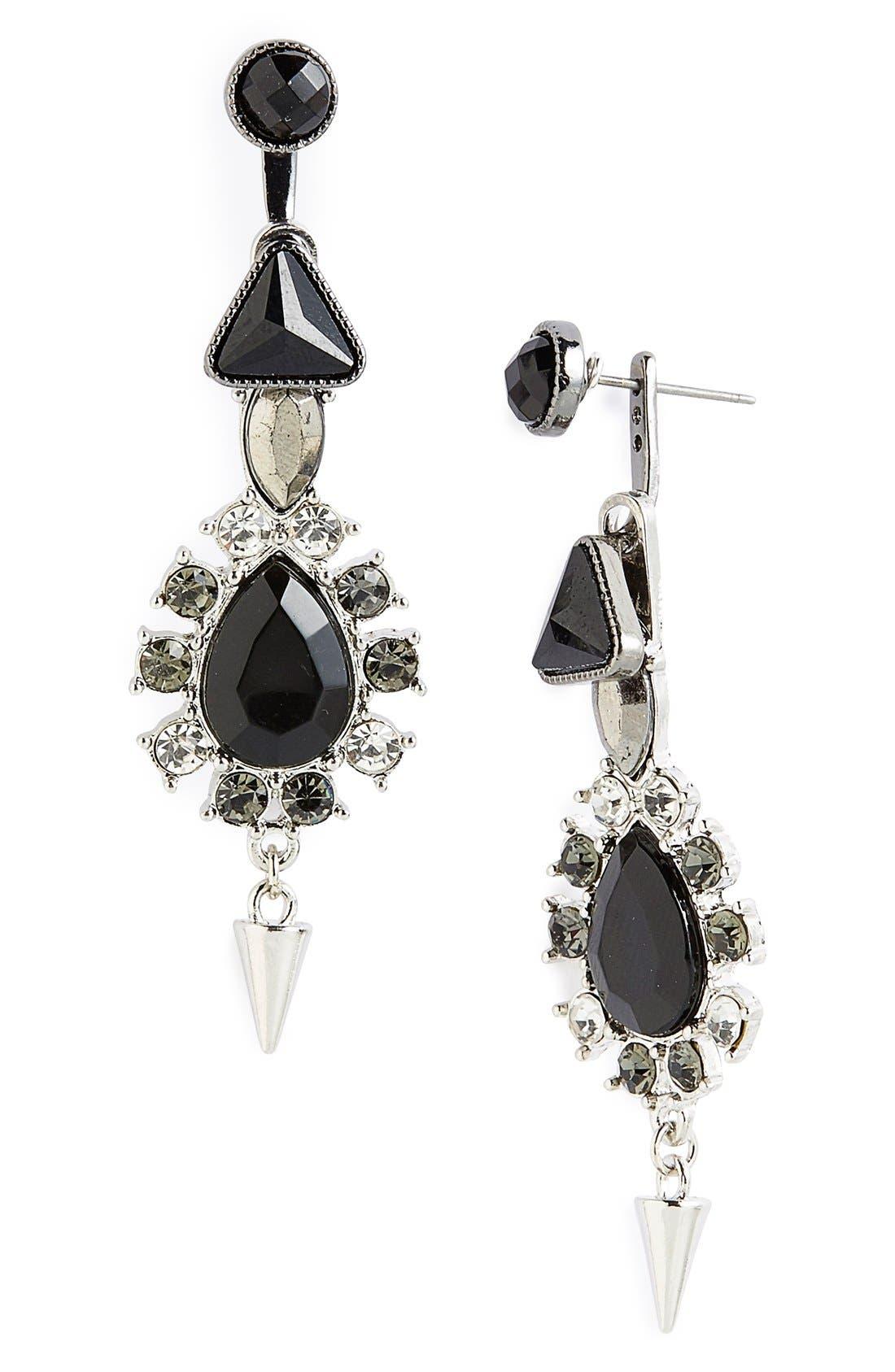 Main Image - Topshop Crystal Drop Ear Jackets