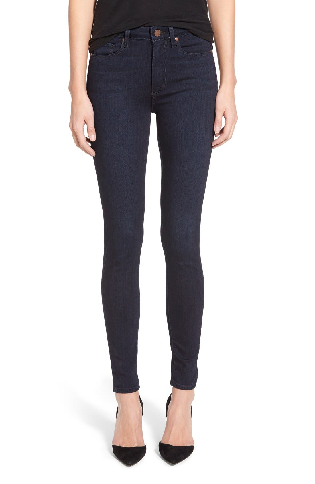 Main Image - Paige Denim 'Hoxton' High Rise Ultra Skinny Jeans (Cambria)