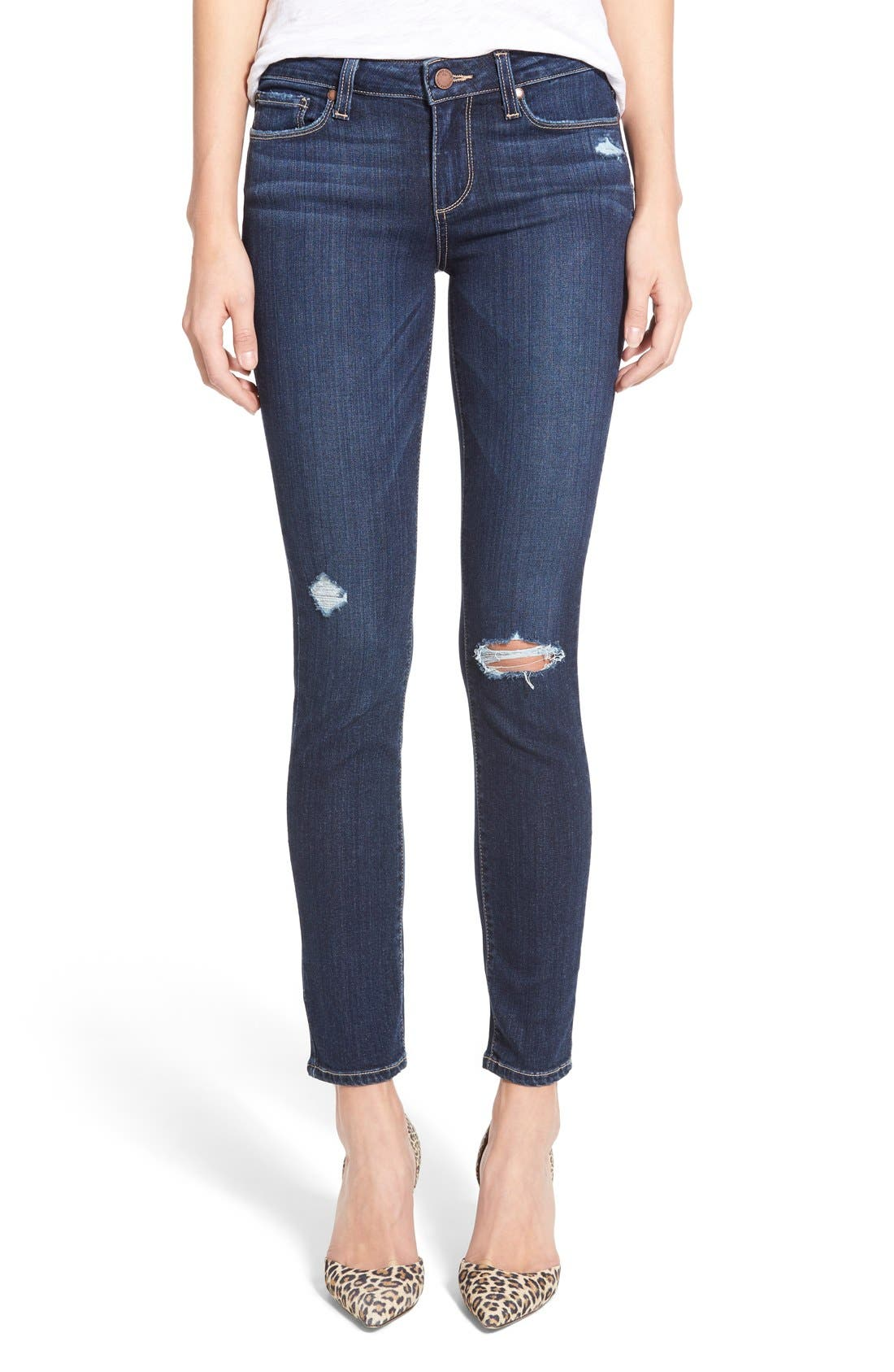 Alternate Image 1 Selected - Paige Denim 'Skyline' Ankle Peg Jeans (Elia Deconstructed)