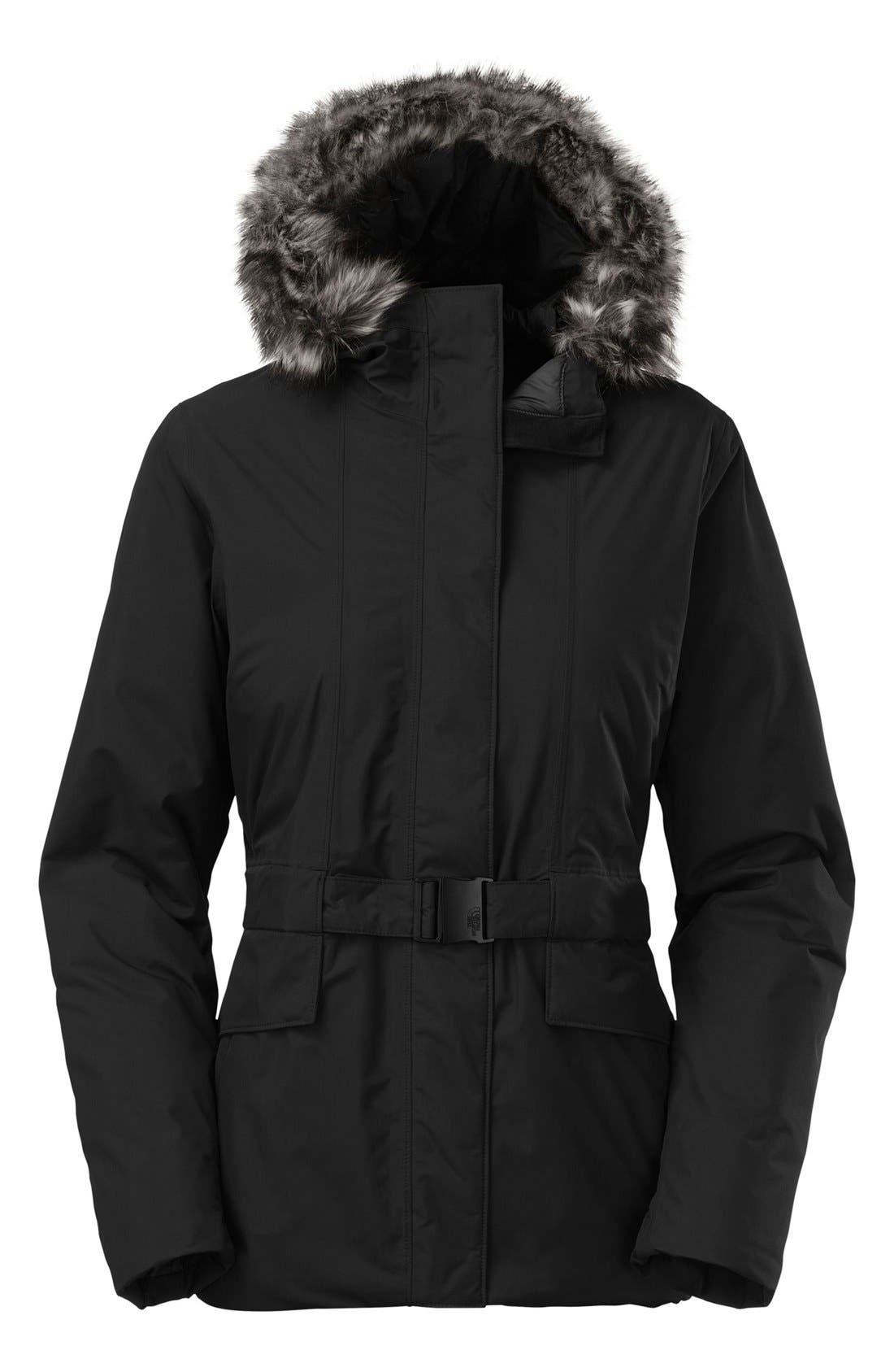 Alternate Image 1 Selected - The North Face 'Dunagiri' Waterproof Down Parka with Faux Fur Trim