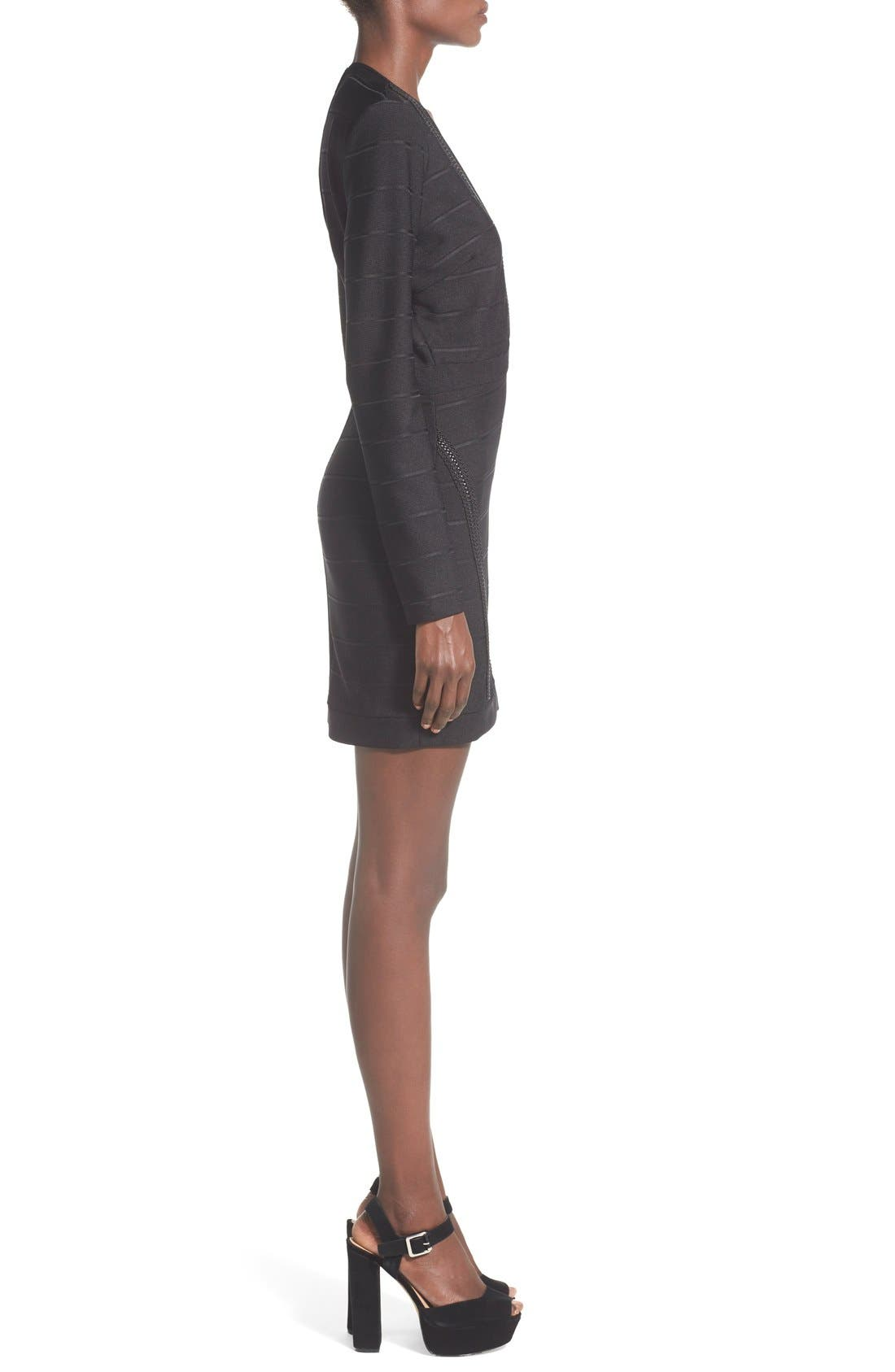 Alternate Image 3  - Missguided Plunge Neck Body-Con Dress