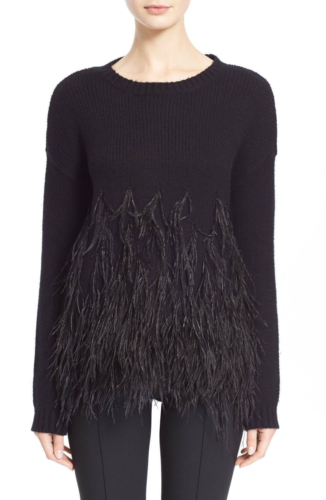 Main Image - Elizabeth and James Feather Trim Pullover