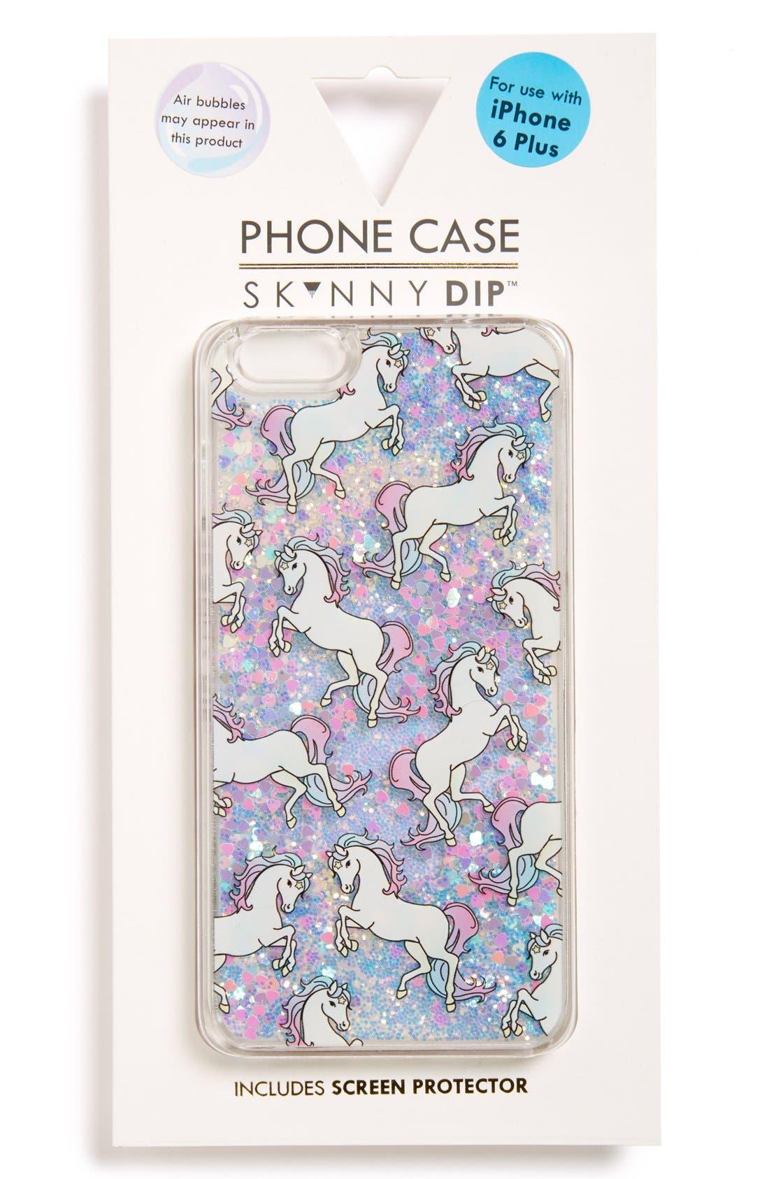 Alternate Image 1 Selected - Skinnydip Unicorn iPhone 6 Plus & 6s Plus Case