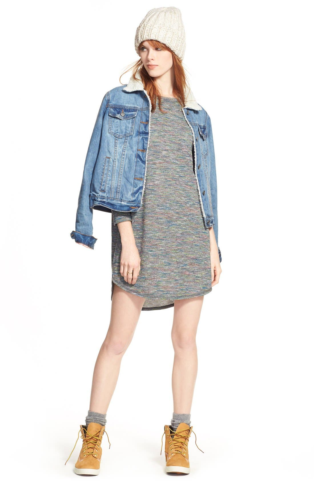 Alternate Image 2  - One Clothing Space Dye Sweater Dress