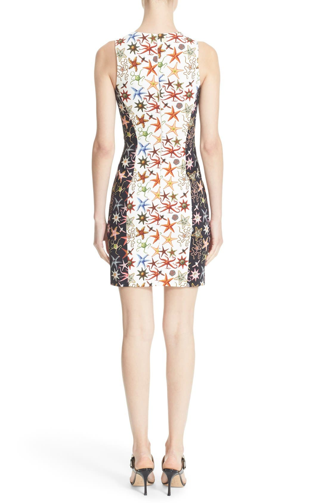 Alternate Image 2  - Versace Collection Starfish Print Bicolor Sheath Dress