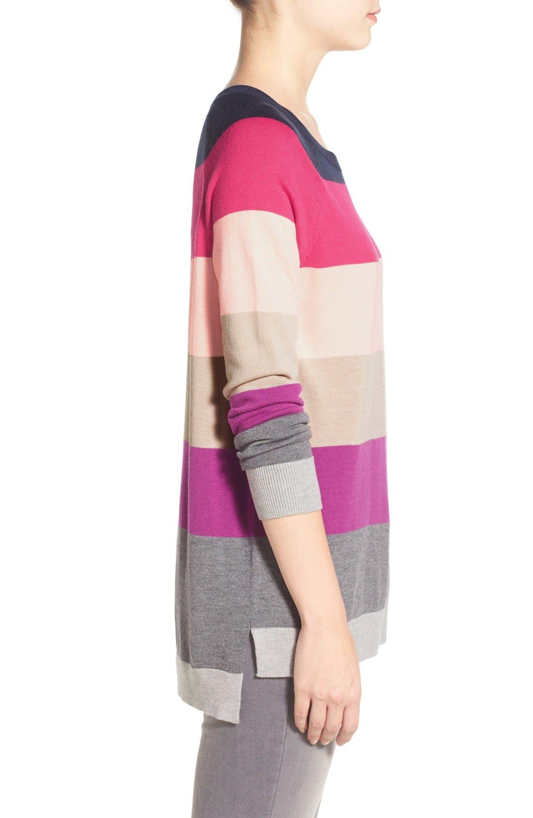 Alternate Image 3  - Caslon® Raglan Crewneck Sweater (Regular & Petite)