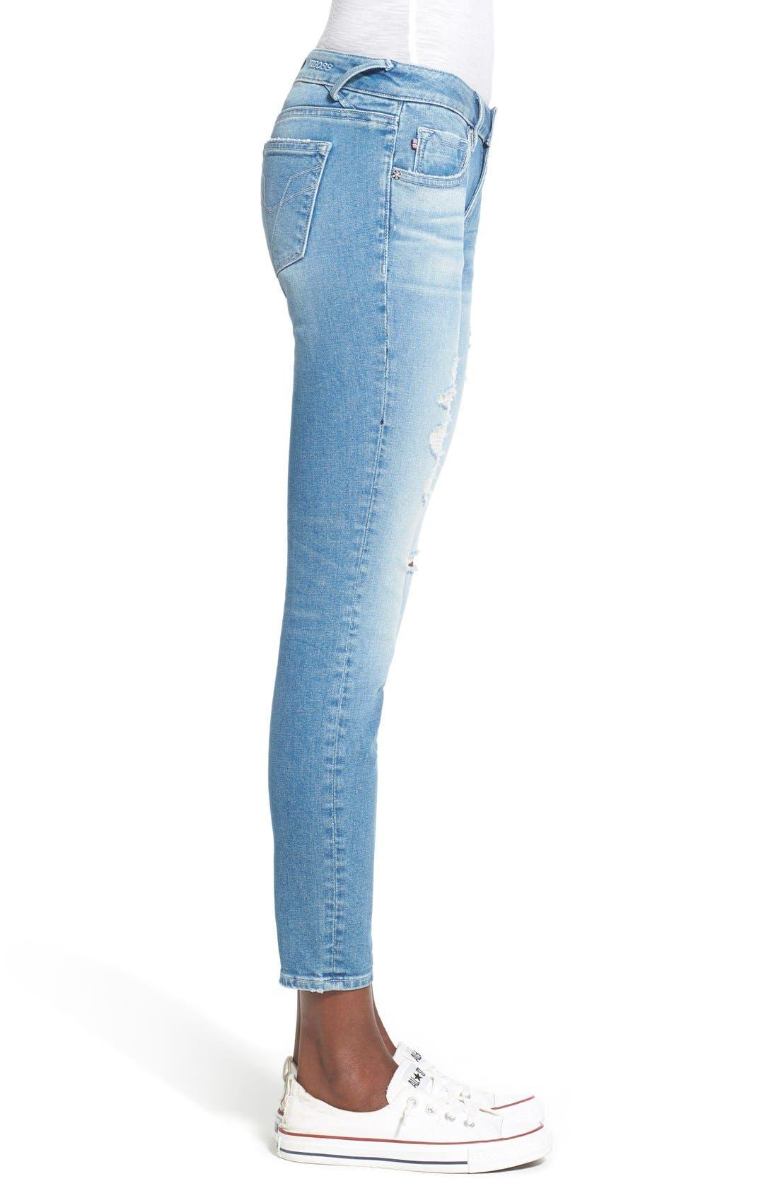 Alternate Image 3  - Vigoss 'Chelsea' Super Skinny Jeans (Light Wash)