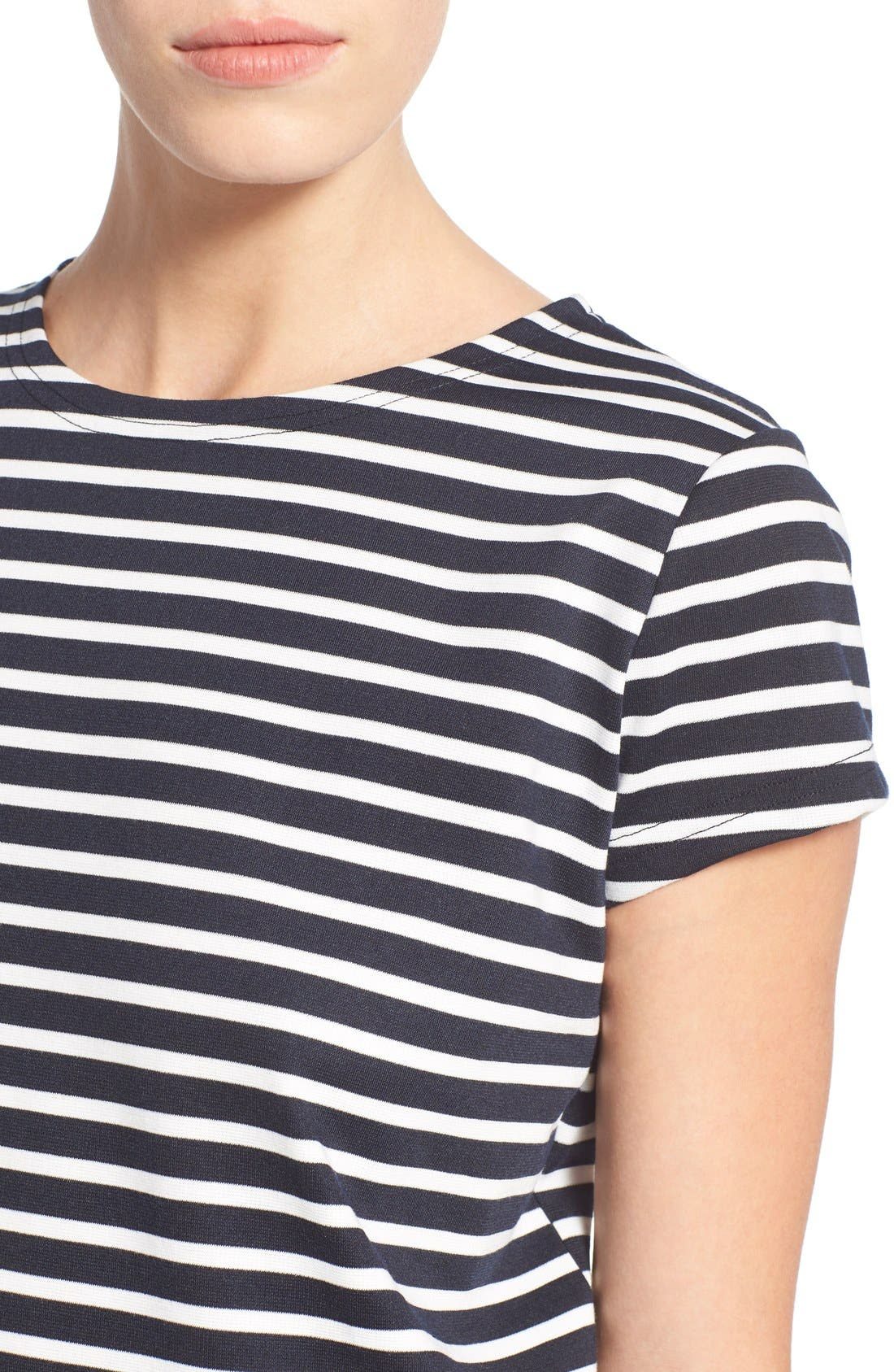 Alternate Image 4  - Missguided Stripe Short Sleeve Shift Dress