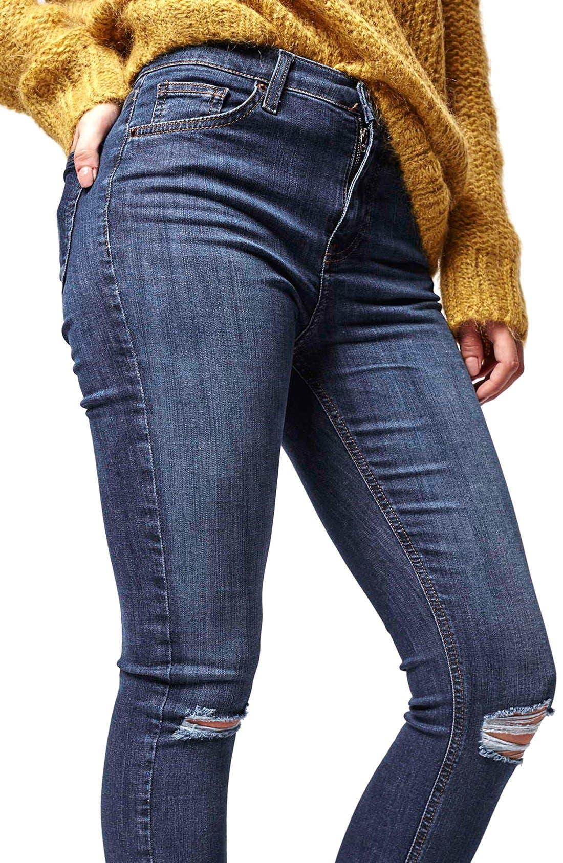 Alternate Image 5  - Topshop Moto 'Jamie' Ripped Skinny Jeans