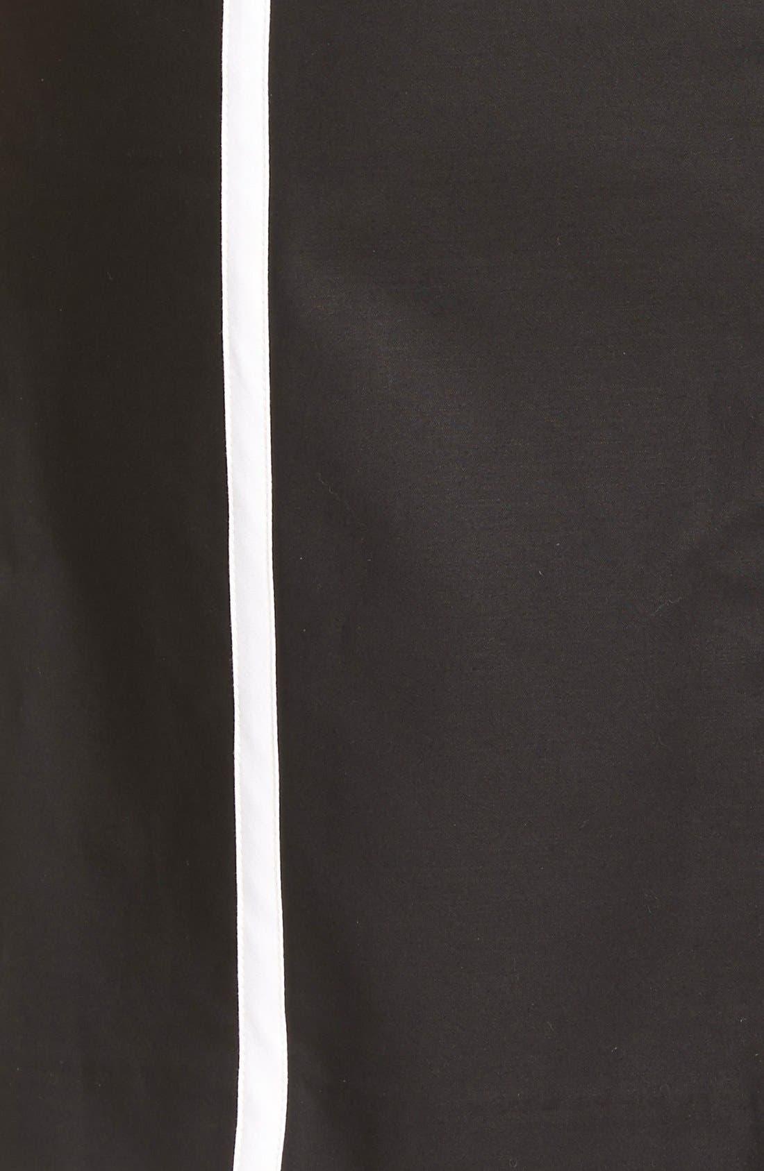Alternate Image 5  - MICHAEL Michael Kors Contrast Trim Front Zip Sheath Dress (Regular & Petite)