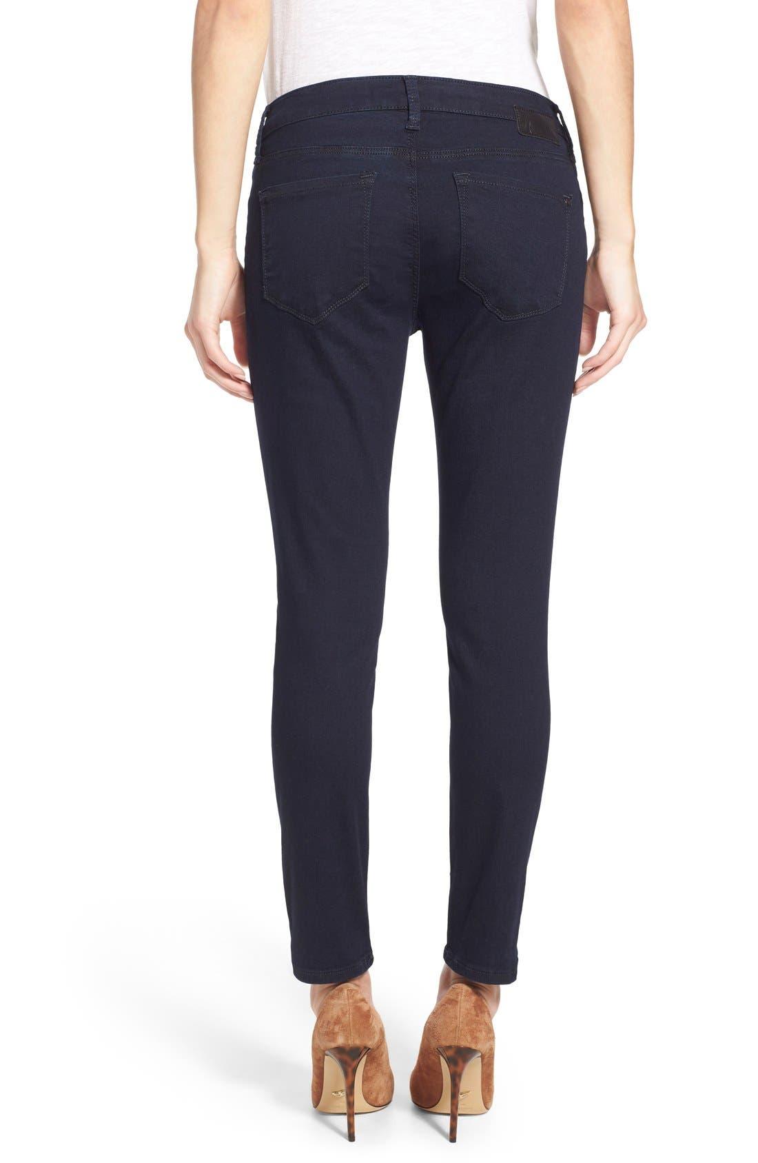Alternate Image 2  - Mavi Jeans 'Alexa' Stretch Skinny Jeans (Dark Shanti) (Petite)