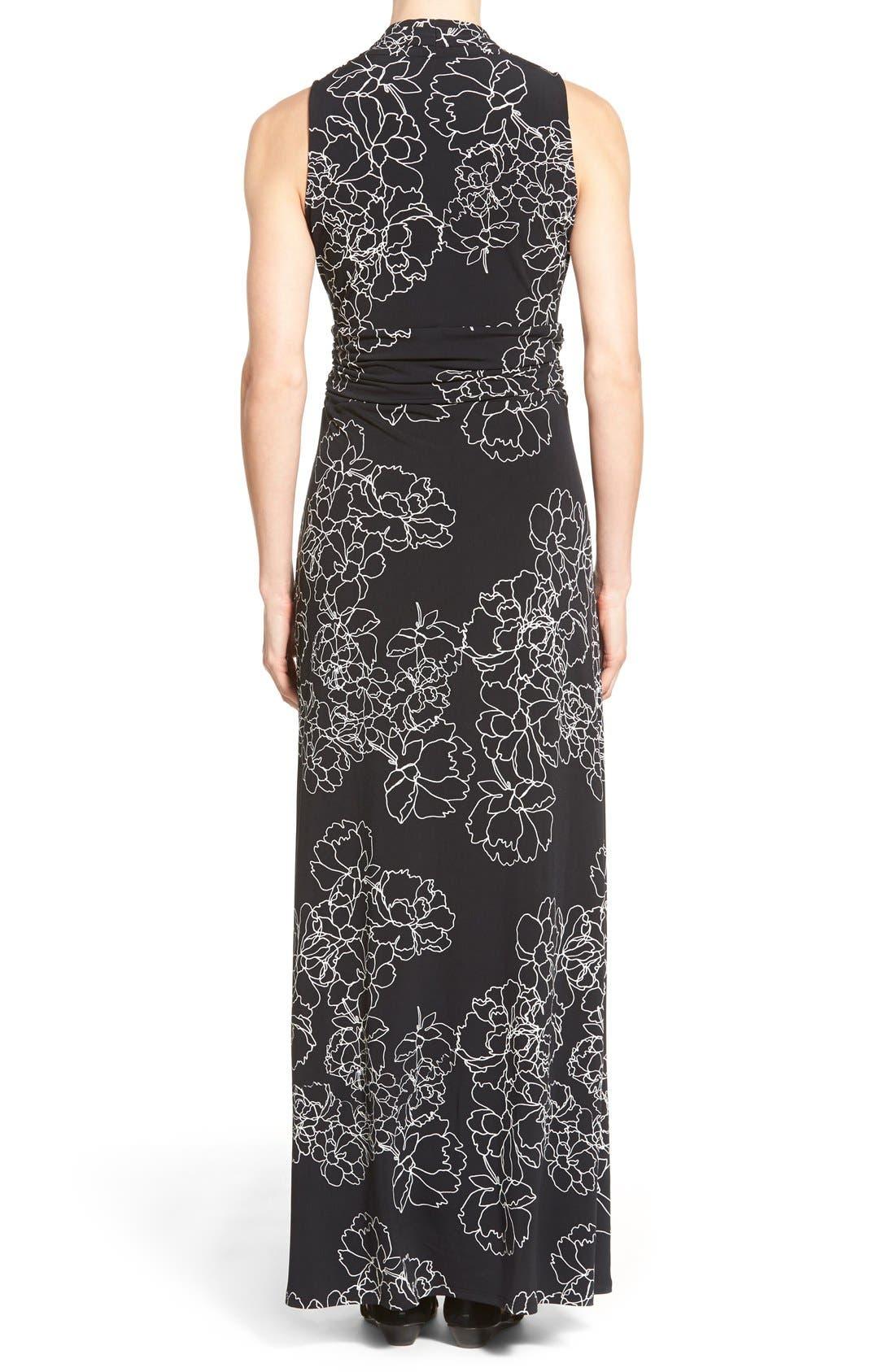 Alternate Image 2  - Vince Camuto Floral Print Jersey Maxi Dress (Regular & Petite)
