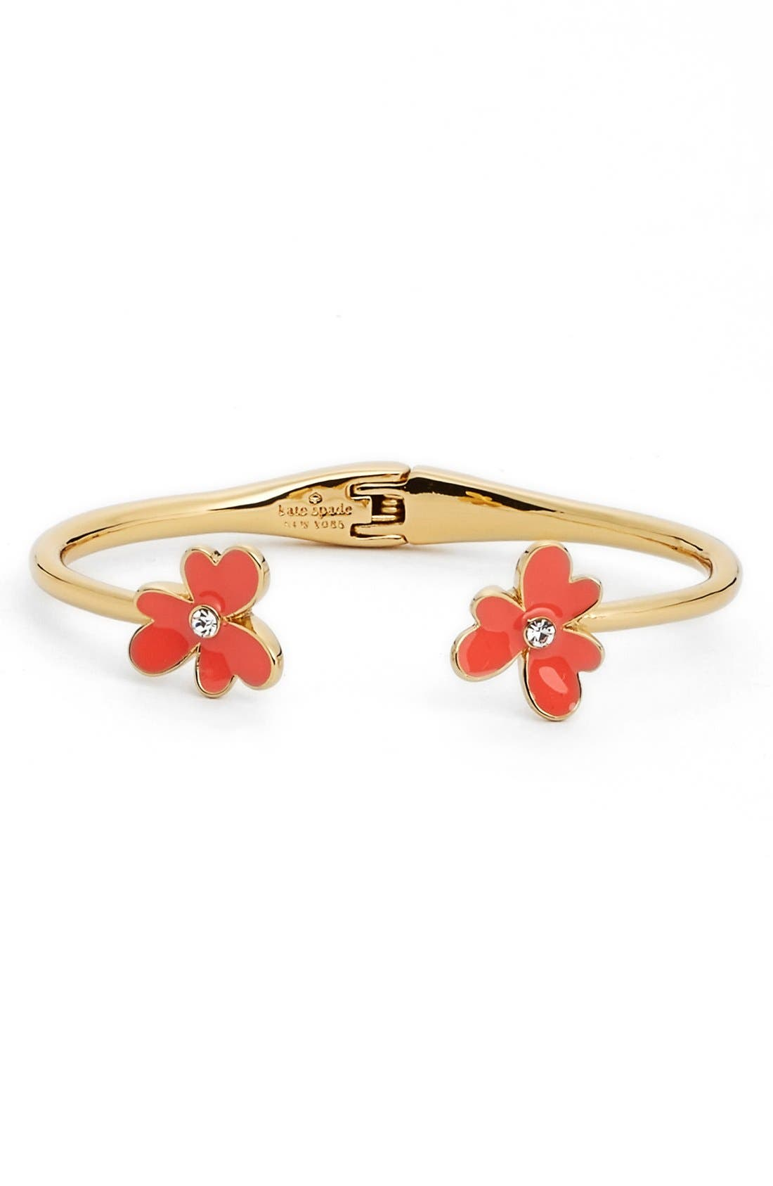 Alternate Image 1 Selected - kate spade new york 'pansy blossoms' hinged cuff
