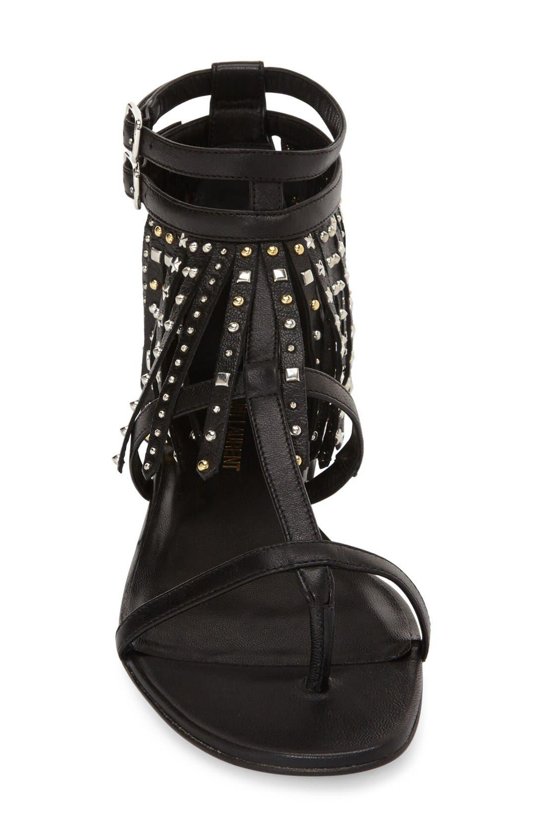 Alternate Image 3  - Saint Laurent 'Nu' Studded Fringe Sandal (Women)