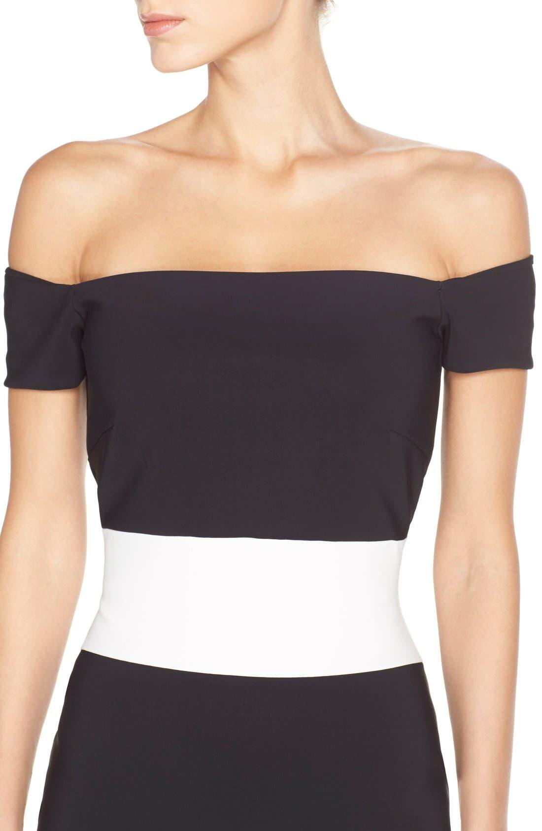 Alternate Image 6  - Chiara Boni La Petite Robe 'Bebel' Stripe Jersey Sheath Dress