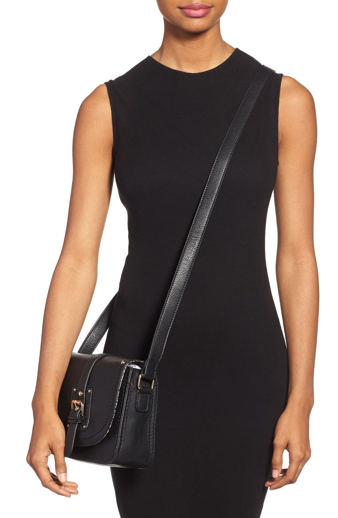 Alternate Image 2  - Sole Society 'Saylah' Structured Faux Leather Crossbody Bag