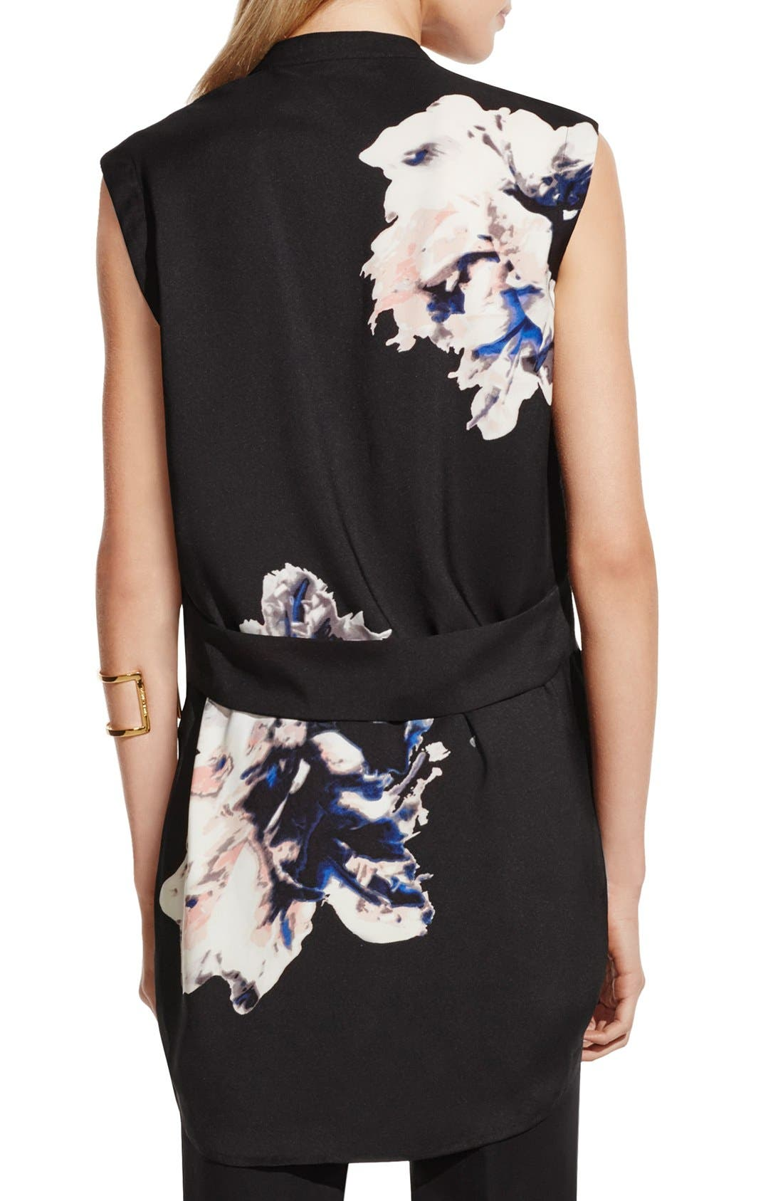 Alternate Image 3  - Vince Camuto 'Duet Floral' Sleeveless Tunic Blouse