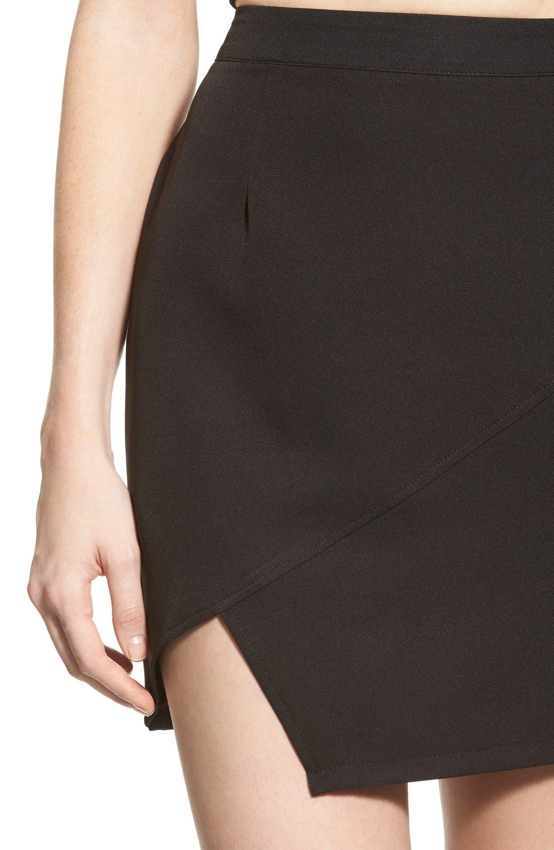 Alternate Image 3  - Missguided Asymmetrical Miniskirt