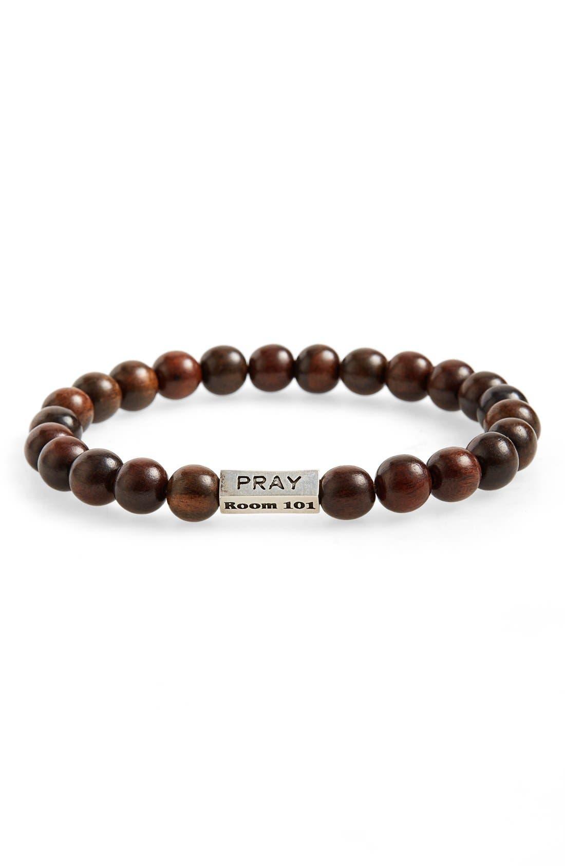 Main Image - Room 101 Wood Bead Bracelet