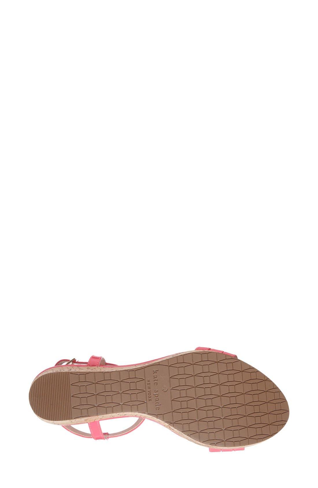 Alternate Image 3  - kate spade new york 'tallin' wedge sandal (Women)