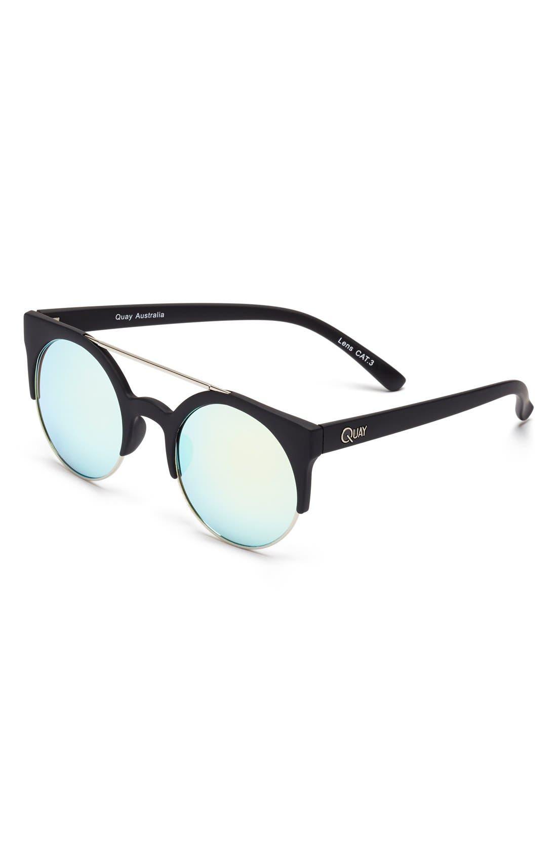 Alternate Image 1 Selected - Quay Australia 'Live Now' 50mm Cat Eye Sunglasses