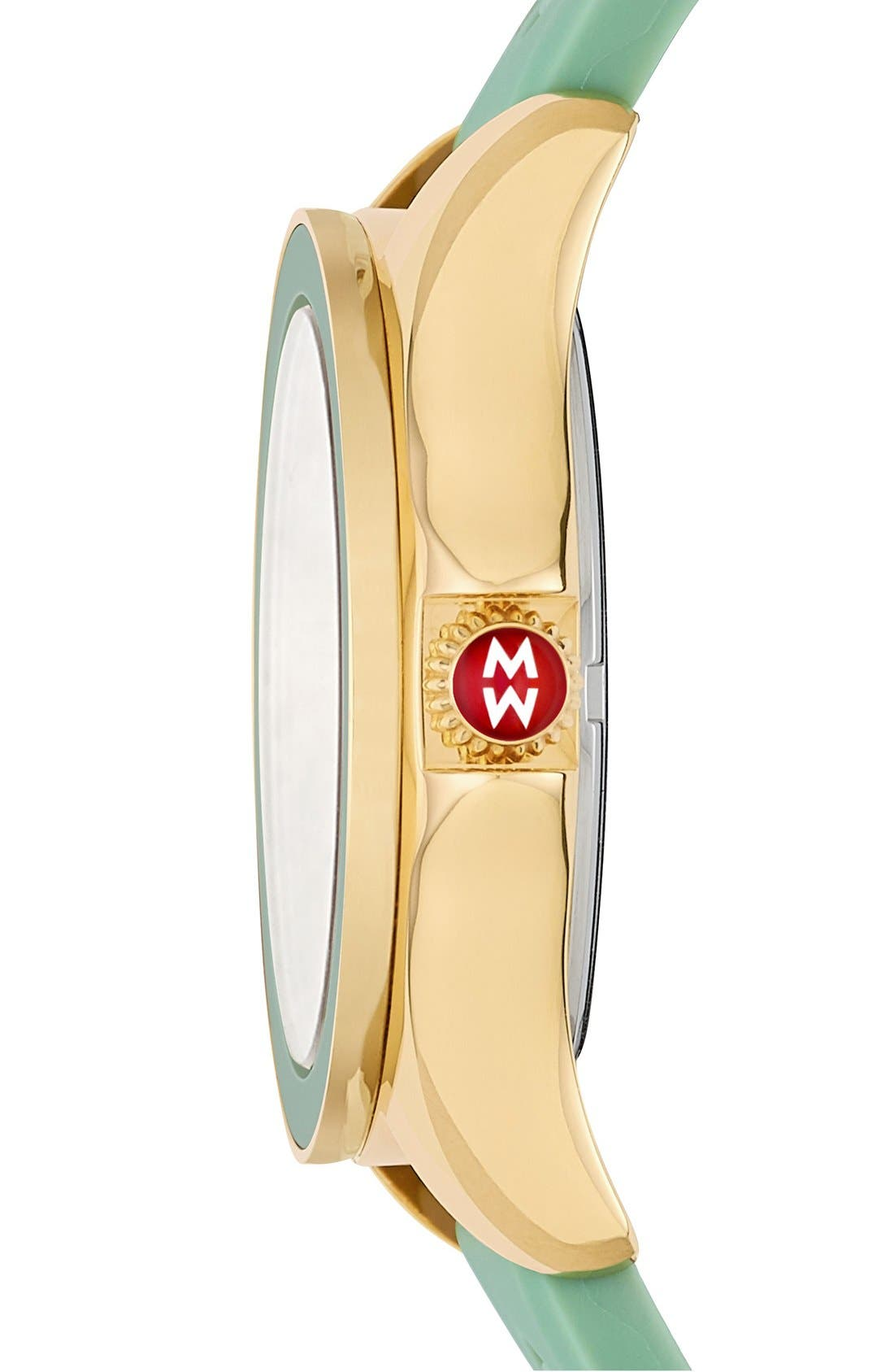 Alternate Image 2  - MICHELE Cape Topaz Dial Silicone Strap Watch, 40mm