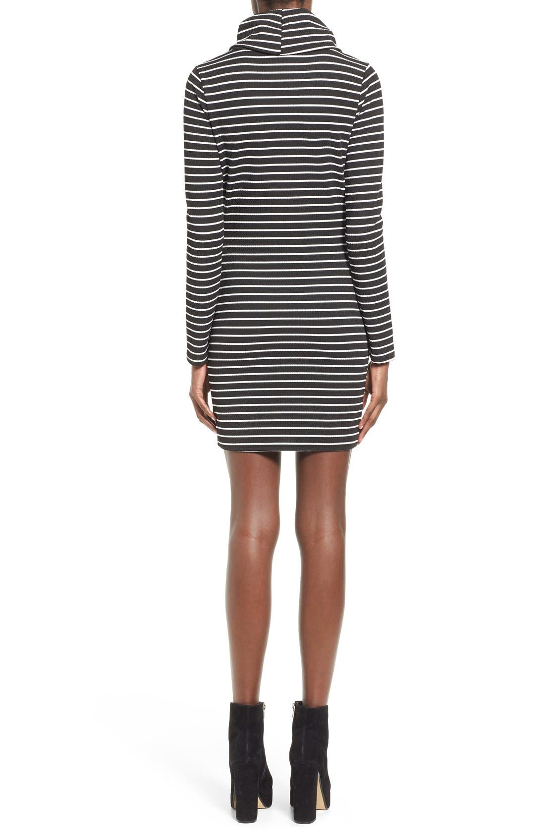 Alternate Image 2  - Missguided Stripe Turtleneck Body-Con Dress