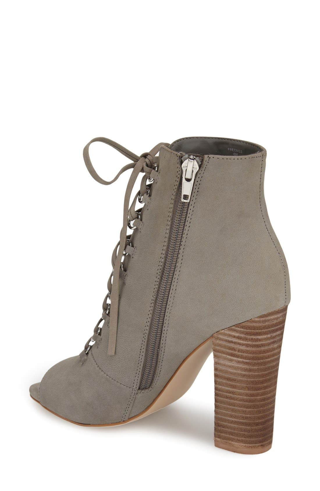 Alternate Image 2  - Steve Madden 'Freemee' Open Top Lace-Up Bootie (Women)