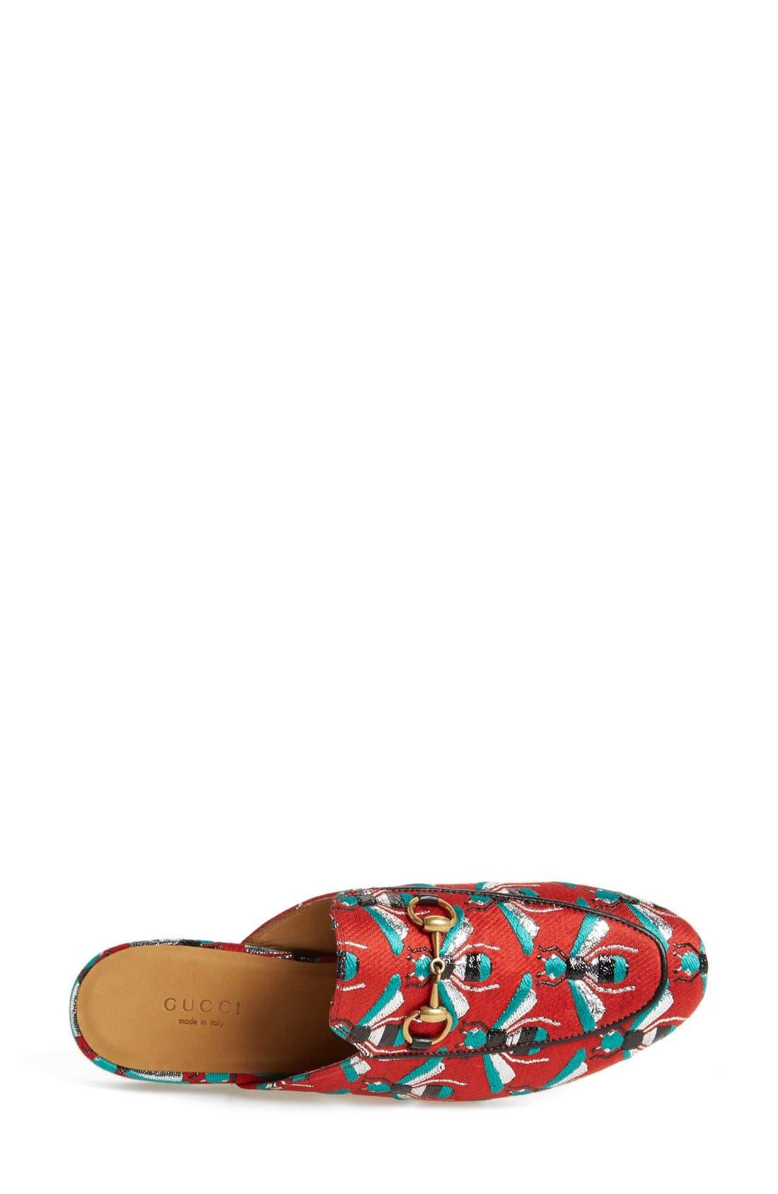 Alternate Image 3  - Gucci 'Princetown' Print Mule Loafer (Women)