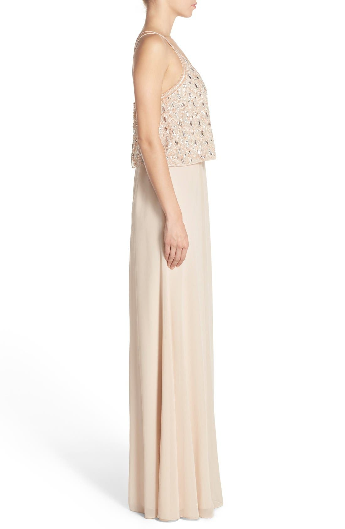 Alternate Image 3  - Aidan Mattox Embellished Popover Georgette Gown
