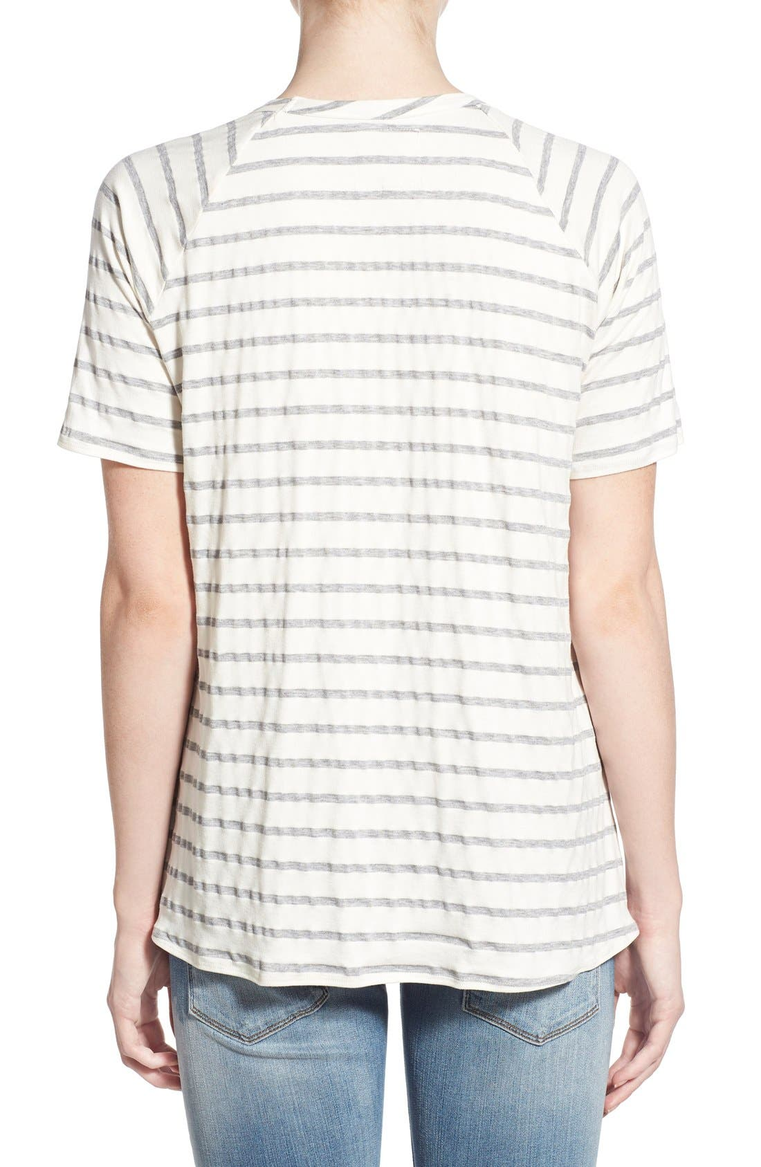 Alternate Image 2  - Chaser Relaxed Stripe High/Low Tee