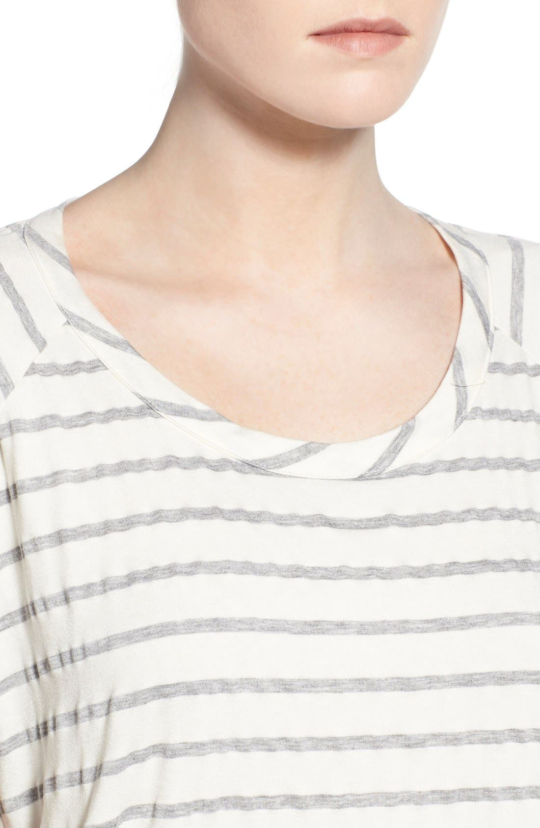 Alternate Image 4  - Chaser Relaxed Stripe High/Low Tee
