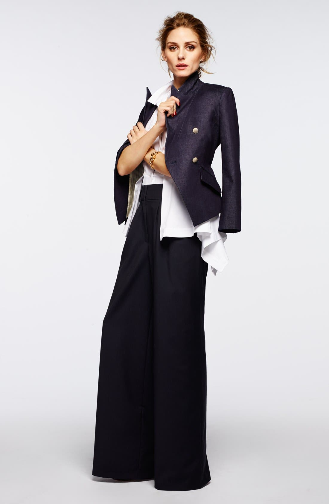 Alternate Image 7  - Olivia Palermo + Chelsea28 Pleat Front Trousers